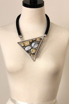 retro triangle necklace