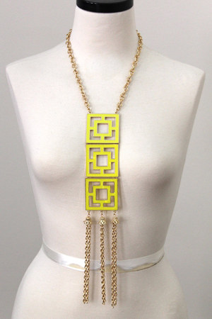 chain neon necklace