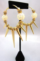 chic spike hoop earrings