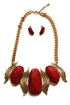 leaf chunky necklace