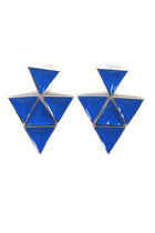 retro triangle earrings