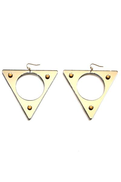 mirror triangle earrings