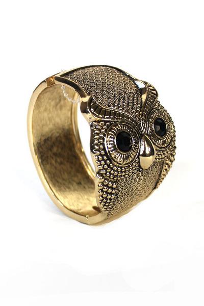 owl bangle bracelet
