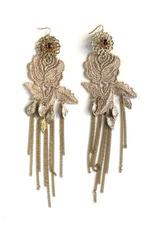 lace chain earrings