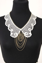 lace chain set necklace