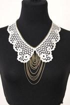 lace chain set necklace