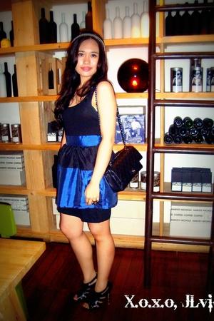 Dorothy Perkins - Chanel - black Alexander McQueen shoes - blue Lil Moo accessor