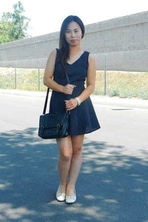 black DIY dress - neutral Soft Styles heels - Charlotte Russe bracelet