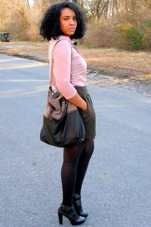 peach Passport shirt - light purple Deena & Ozzy bag - army green Forever 21 ski