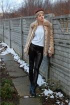leopard print moms scarf - black worker boots Deichmann boots