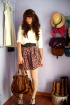 brown faux leather Bershka bag - brown Portuguese brand shoes