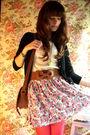 Black-zara-cardigan-beige-mango-top-brown-zara-belt-blue-zara-skirt-pink
