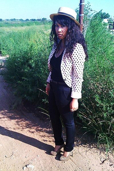 brown Forever 21 hat - black Forever 21 pants - beige H&M blazer - black Target