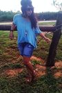 Blue-forever21-top-blue-charlotte-russe-shorts-brown-aldo-shoes