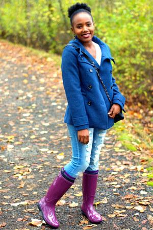Ugg boots - H&M coat - American Eagle jeans