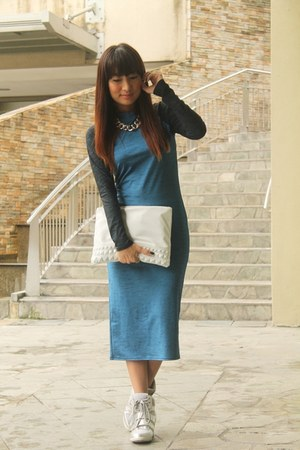Topshop dress - Terranova bag - Forever 21 sneakers