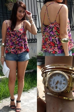 Topshop top - Topshop shorts - Forever21 accessories