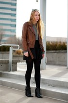 brown moto 31 Phillip Lim jacket - black ankle Giuseppe Zanotti boots