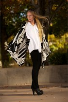 black Alexander Wang leggings - black Fendi boots - white Corey Lynn Calter shir