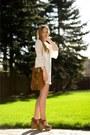 Ivory-lace-mint-julep-dress-brown-fringe-saint-laurent-bag