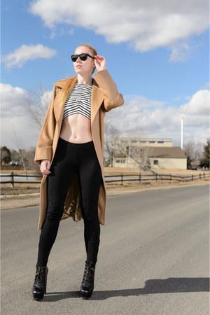 black ankle Gucci boots - camel camel Max Mara coat