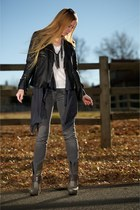 silver Camilla Skovgaard boots - heather gray J Brand jeans - blue Gold Hawk car