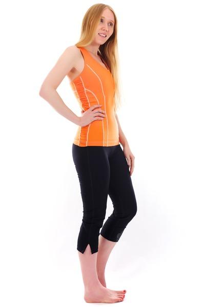 orange love Albion Fit top - black optimum Albion Fit pants