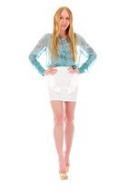 turquoise blue turquoise Samantha Wills ring - white flared Backstage skirt