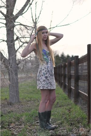 free people dress - Frye boots - Ra Creations accessories