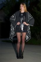 black Givenchy shoes - black Kimberly Ovitz dress - black twelfth street by cynt