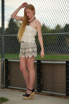 ivory diego Stone Cold Fox skirt - cream Anna Sui shorts