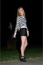 black Givenchy shoes - black Alice  Olivia shorts - white See by Chloe sweater