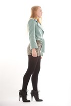 light blue Diane Von Furstenberg jacket - black Givenchy boots