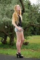 black connie Givenchy clogs - navy vova chain IRO shorts