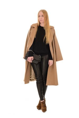 black quilted Chanel bag - brown leopard Miu Miu boots