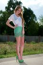 Green-charlotte-olympia-shoes-green-gryphon-skirt-white-kain-label-top-bla