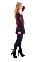 crimson cashmere Equipment sweater - black wing alaia boots