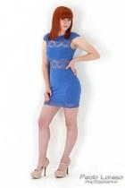 bodycon Topshop dress - lace side Love Label heels
