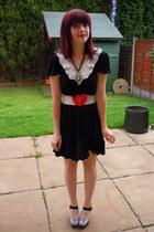 lace top Miss Selfridge dress - Miss Selfridge belt - Dorothy Perkins heels - To