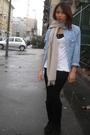 Zara-shirt-black-zara-leggings-black-viauno-boots-white-h-m-t-shirt-scar