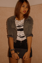 shorts - shirt - purse - H&M jacket