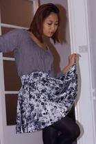 gray Zara shirt - gray H&M skirt