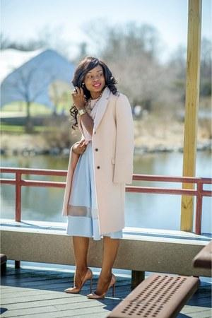 Topshop top - Zara coat - Topshop skirt - Christian Louboutin pumps