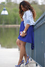 Navy-asoscom-dress-periwinkle-levis-jacket-blue-miu-miu-heels