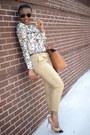 Tawny-zara-bag-bronze-nordstrom-pumps-eggshell-floral-print-zara-blouse