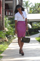 Aldo bag - stripes Zara skirt - Zara blouse - Aldo heels