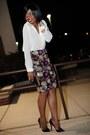 Brick-red-embellished-virgos-lounge-skirt-off-white-h-m-blouse