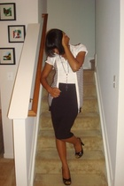 Victorias Secret skirt - H&M blouse - Forever21 vest - Aldo shoes
