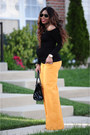 Black-aldo-bag-black-asoscom-top-orange-wide-leg-zara-pants