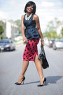 Peplum-asos-top-polka-dot-asos-shirt-aldo-bag-christian-louboutin-pumps